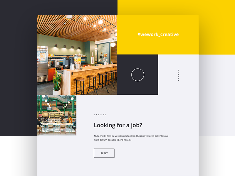 Wework Home page