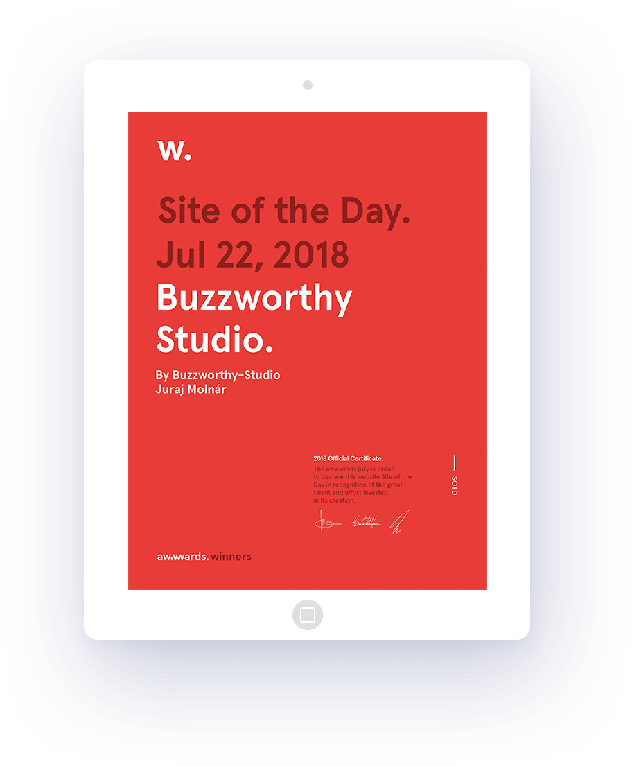 Site of the day on awwwards