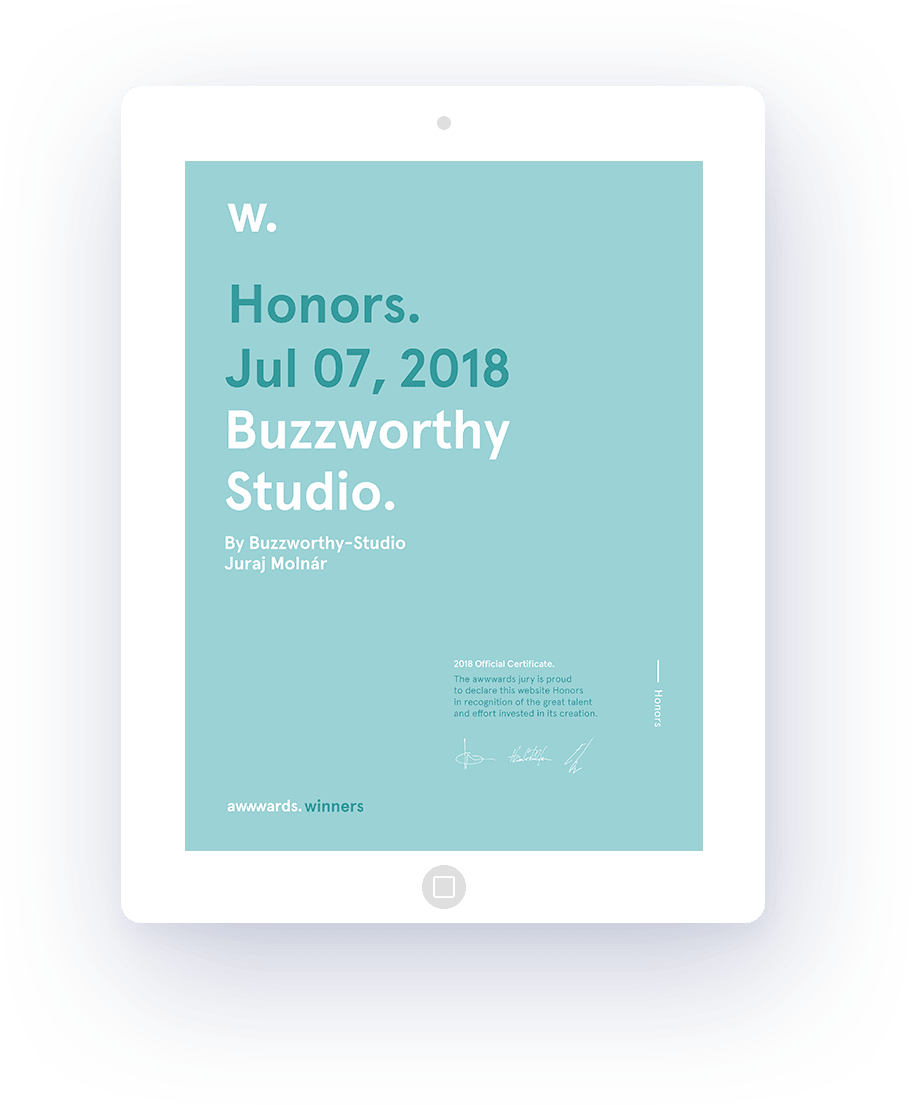 Honorable mention on awwwards