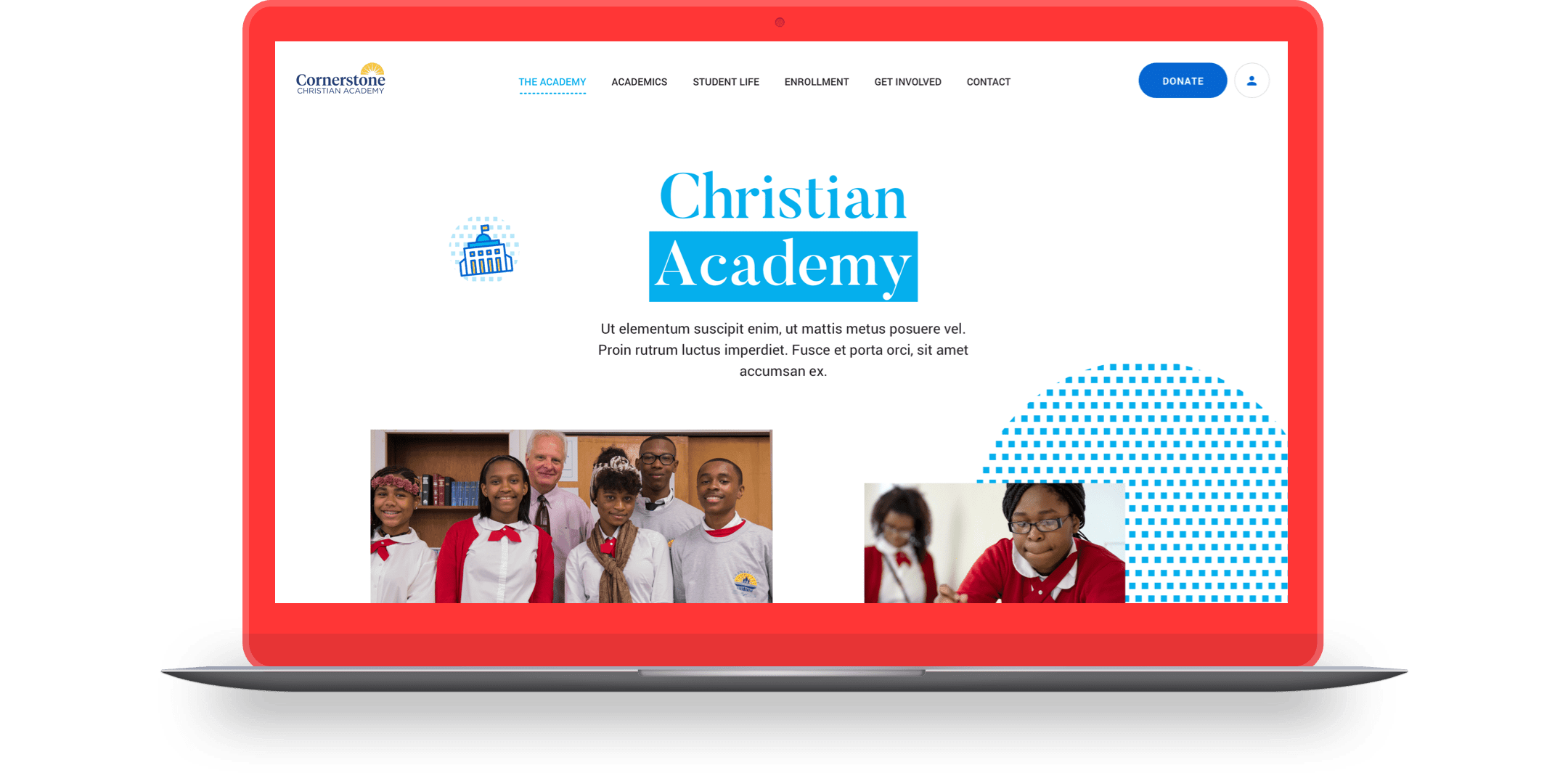 Academy page preview