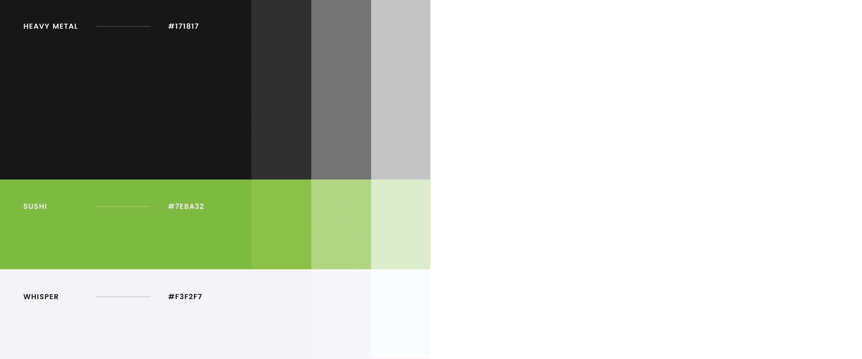 GTS Color palette